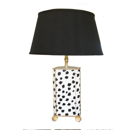 Dana Gibson Black Fleck Lamp