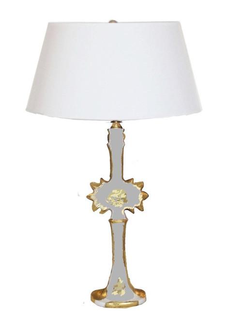 Dana Gibson Salutation Lamp in Grey