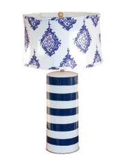 Dana Gibson Blue Stripe Stacked Lamp