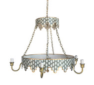 Dana Gibson Parsi in Grey Chandelier