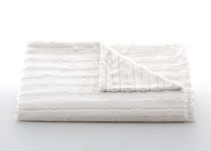 Tourance Channels Throw in Ivory