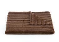 Tourance Channels Throw in Chocolate