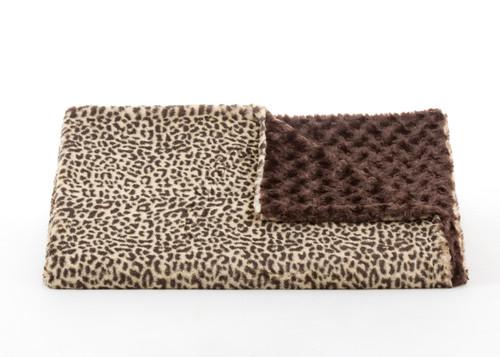 Tourance Cheetah Throw with Chocolate Rosebud