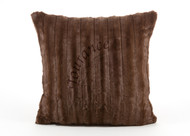Tourance Channel Square Pillow in Chocolate