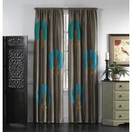 Cloud9 Design Carnation Curtain Panel AZURE01PN-LB