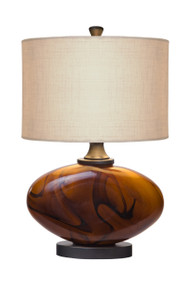 Thumprints Burl Table Lamp