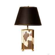 Dana Gibson Cowhide Lamp with Shade