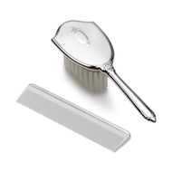 Empire Silver Girls Shield Brush/Comb Set