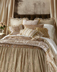 "Isabella Collection by Kathy Fielder Lucia Damask Long Drop Duvet, 30"""" Drop"