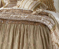 Isabella Collection by Kathy Fielder Lucia Sheer Overlay Bedskirt