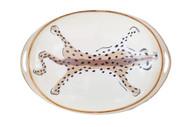 Dana Gibson Oval Tray in Cream Leopard