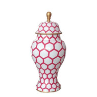 Dana Gibson Small Ginger Jar in Pink Mesh