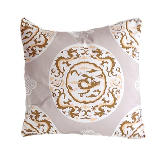 "Dana Gibson Grey Dragon 22"" Pillow"