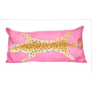 Dana Gibson Leopard Lumbar In Pink