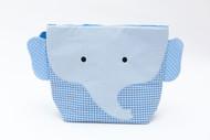 Nikiani Charlie Blue Gingham Elephant Cotton Wet Bag & Backpack