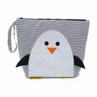 Nikiani Chili Silver Glitter Penguin Mommy Bag & Backpack