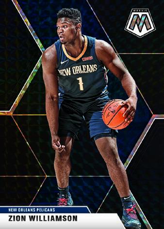 2019-20 Panini Mosaic Basketball Cards Base Mosaic Black Zion Williamson RC
