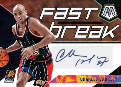 2019-20 Panini Mosaic Basketball Cards Fast Break Autographs Charles Barkley