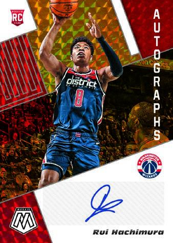2019-20 Panini Mosaic Basketball Cards Rookie Autographs Rui Hachimura