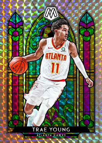 2019-20 Panini Mosaic Basketball Cards Stained Glass Trae Young