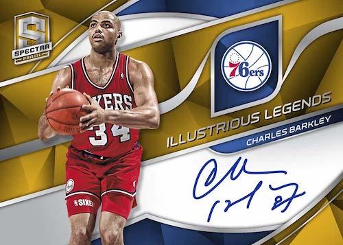2019-20 Panini Spectra Basketball NBA Cards Illustrious Legends Signatures Gold Charles Barkley