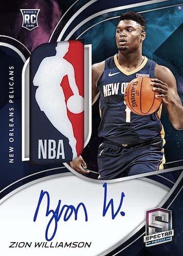 2019-20 Panini Spectra Basketball NBA Cards Rookie Jersey Autographs Nebula Logoman Zion Williamson RC