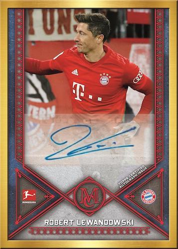 2019-20 Topps Museum Collection Bundesliga Cards Framed Autograph Robert Lewandowski