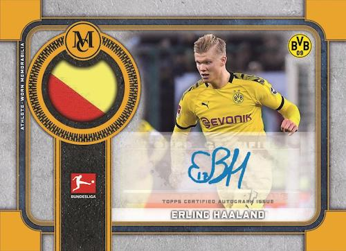 2019-20 Topps Museum Collection Bundesliga Cards Museum Autograph Relic Erling Haaland