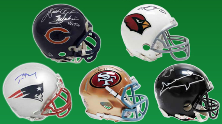2019 Leaf Autographed Football Mini-Helmets