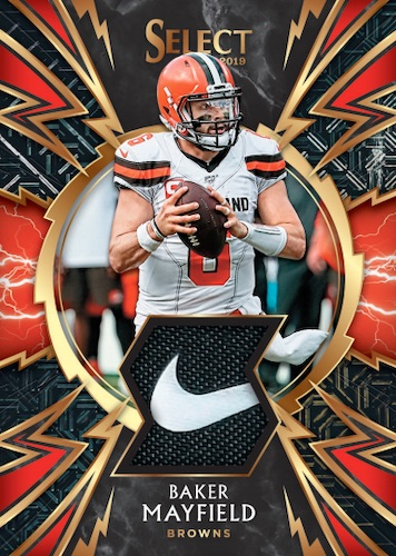 2019 Panini Select Football Cards Sparks Prizm Relic