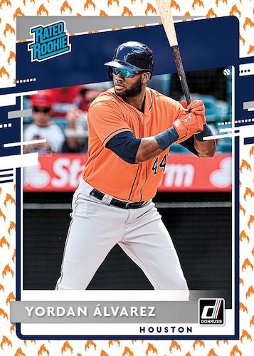 2020 Donruss Baseball Cards Base On Fire Emoji Rated Rookie Yordan Alvarez RC