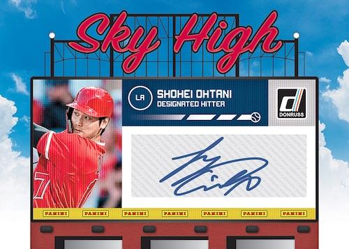 2020 Donruss Baseball Cards Sky High Autograph Shohei Ohtani
