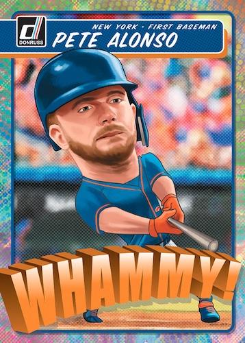 2020 Donruss Baseball Cards Whammy Pete Alonso