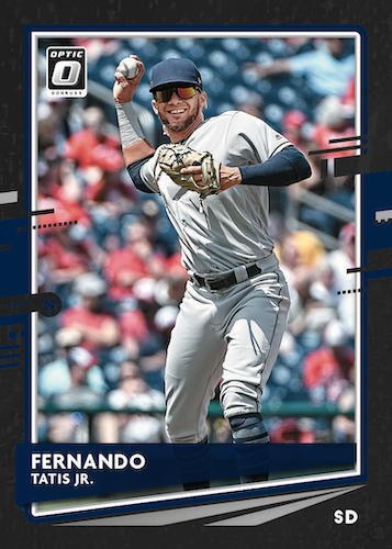 2020 Donruss Optic Baseball Cards Base Black Stars Fernando Tatis Jr.