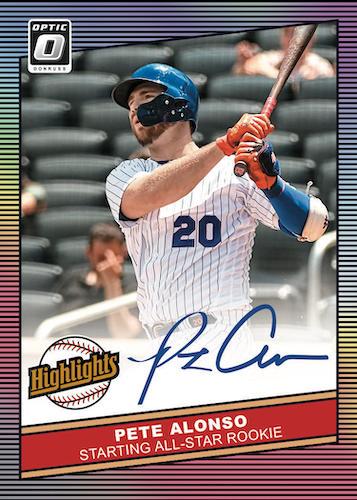 2020 Donruss Optic Baseball Cards Highlights Signatures Pete Alonso
