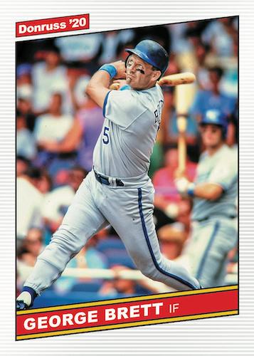 2020 Donruss Optic Baseball Cards Retro 1986 George Brett