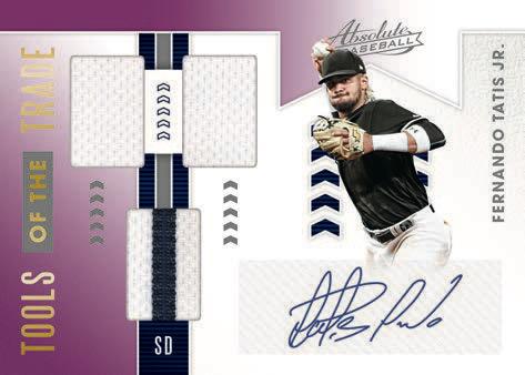 2020 Panini Absolute Baseball Cards Tools of the Trade Fernando Tatis Jr Autograph