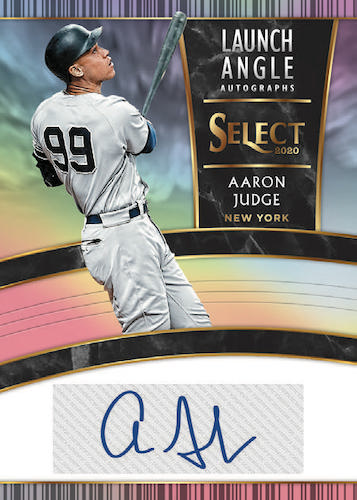 2020 Panini Select Baseball Cards Launch Angle Autographs Aaron Judge