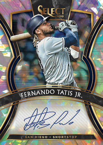 2020 Panini Select Baseball Cards Signatures Cracked Ice Fernando Tatis Autograph