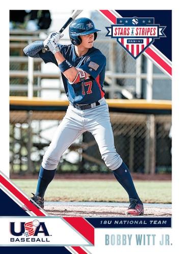2020 Panini Stars Stripes USA Baseball Cards Base Bobby Witt Jr