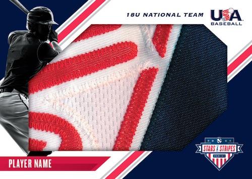 2020 Panini Stars Stripes USA Baseball Cards Jumbp Patch 18U National Team