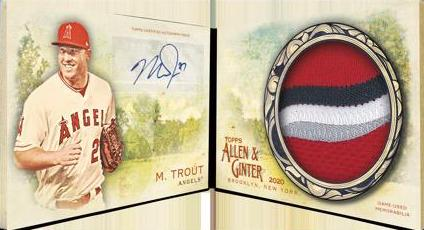 2020 Topps Allen Ginter Baseball Cards Autograph Relic Book Mike Trout