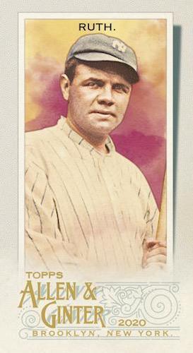 2020 Topps Allen Ginter Baseball Cards Base Mini Babe Ruth