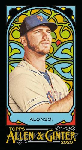 2020 Topps Allen Ginter Baseball Cards Base Mini Stained Glass Pete Alonso
