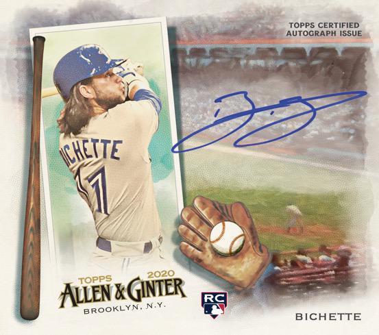 2020 Topps Allen Ginter Baseball Cards Boxloader Autograph Bo Bichette RC