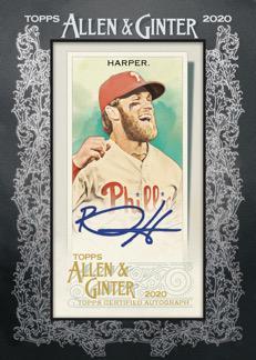 2020 Topps Allen Ginter Baseball Cards Framed Mini Autograph Bryce Harper