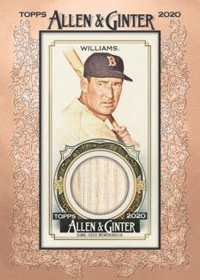 2020 Topps Allen Ginter Baseball Cards Framed Mini Relic Ted Williams