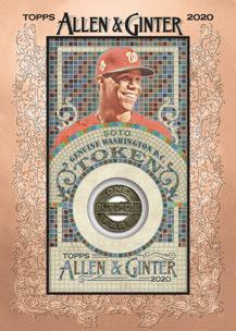 2020 Topps Allen Ginter Baseball Cards Have Ball Will Travel Token Relic Soto