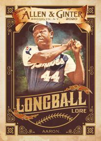 2020 Topps Allen Ginter Baseball Cards Longball Lore Hank Aaron