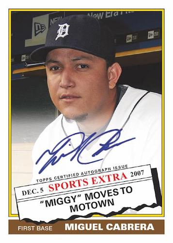 2020 Topps Archives Baseball Cards 1976 Topps Traded Autographs Miguel Cabrera